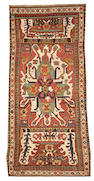 An Eagle Kazak Caucasus size approximately 3ft. 10in. x 8ft. 4in.