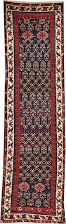 A Caucasian runner Caucasus size approximately 3ft. 7in. x 12ft. 2in.