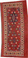 A Tekke rug  Turkestan size approximately 1ft. 8in. x 3ft. 4in.