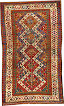 A Kazak rug  Caucasus size approximately 4ft. 3in. x 7ft. 2in.