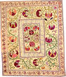 A Suzani textile  Uzbekistan size approximately 3ft. 8in. x 4ft. 5in.