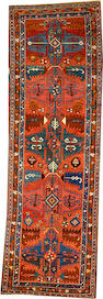 A Bakshaish runner Northwest Persia size approximately 3ft. 4in. x 10ft. 5in.