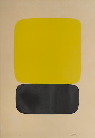 Ellsworth Kelly (American, born 1923); Yellow Over Black;