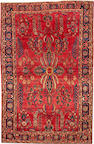 A Mohajaron Sarouk rug  Central Persia size approximately 4ft. 3in. x 6ft. 7in.