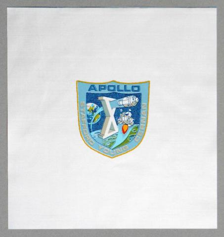 STAFFORD'S FASTEST FLOWN BETA CLOTH EMBLEM CARRIED IN LUNAR MODULE SNOOPY.