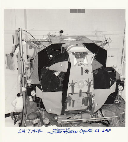 THE LUNAR LIFEBOAT PRIOR TO LAUNCH – SIGNED.