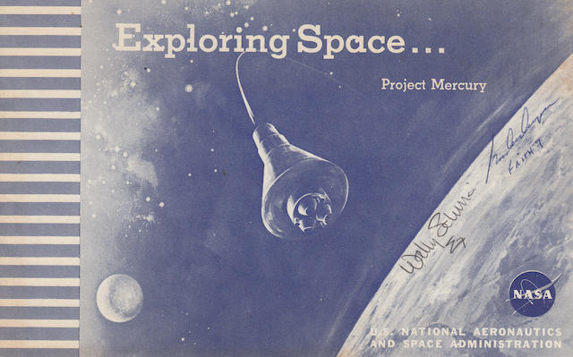EARLY MERCURY BOOKLET—SIGNED. Exploring Space... Project Mercury. Langley Field, Virginia: NASA, 1960.