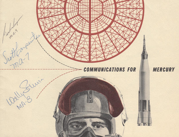 EARLY MERCURY COMMUNICATIONS AND TRACKING BOOKLET—SIGNED. Communications for Mercury. Sandia Corporation, 1961.