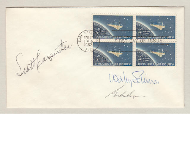 SIGNED MERCURY STAMP FIRST DAY POSTAL COVER.