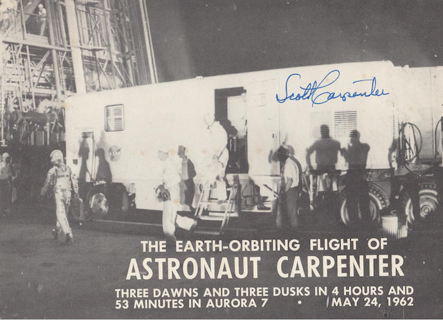 CARPENTER DESCRIBES THE FIREFLY PHENOMENON—SIGNED. The Earth-Orbiting Flight of Astronaut Carpenter.