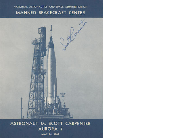 CARPENTER REPLACES SLAYTON TO FLY MISSION—SIGNED. Astronaut M. Scott Carpenter, Aurora 7.