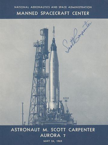 CARPENTER REPLACES SLAYTON TO FLY MISSION—SIGNED. Astronaut M. Scott Carpenter, Aurora 7.