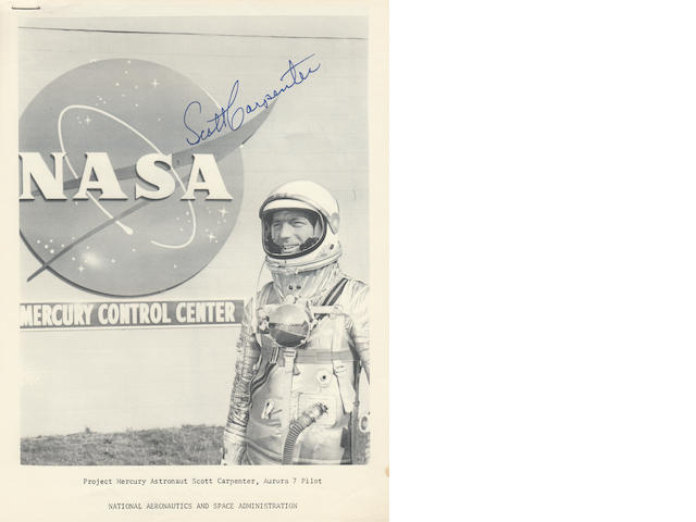 NASA AND SCOTT CARPENTER—SIGNED.