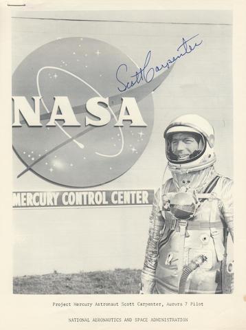 NASA AND SCOTT CARPENTER—SIGNED.