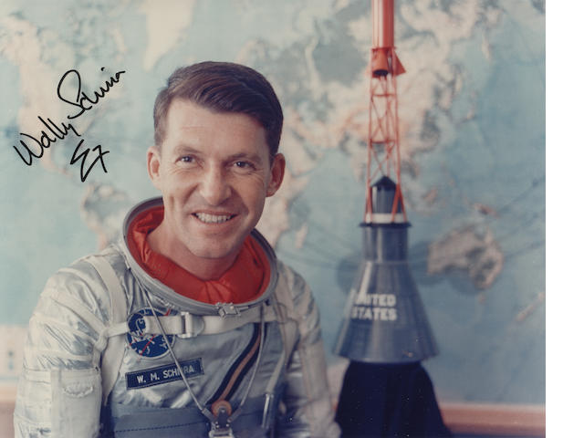 SCHIRRA SPACE SUIT PORTRAIT.