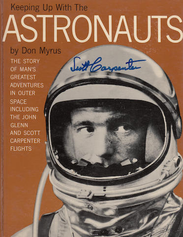 MYRUS, DON. Keeping Up with the Astronauts: the Story of Man's Greatest Adventures in Outer Space Including the John Glenn and Scott Carpenter Flights.