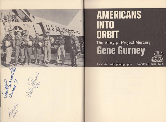 GURNEY, GENE. Americans in Orbit, The Story of Project Mercury.