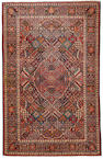 A Dabir Kashan rug  Central Persia size approximately 4ft. 3in. x 6ft. 7in.
