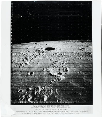 LUNAR ORBITER III. AN OBLIQUE VIEW OF KEPLER CRATER.