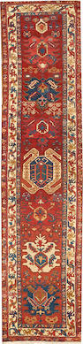 A Bakshaish runner  Northwest Persia size approximately 3ft. 4in. x 14ft. 2in.