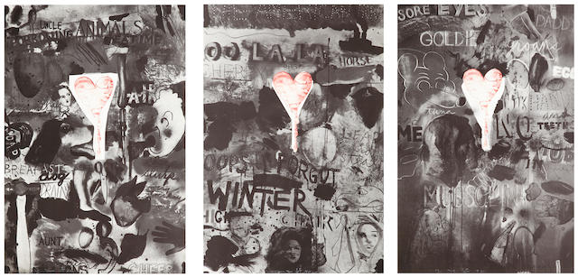 Jim Dine (born 1935); Picabia I (Cheer); Picabia II (Forgot); Picabia  III (Groans); (3)