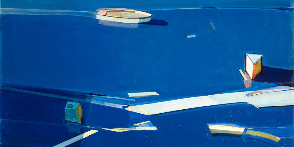 Raimonds Staprans (born 1926) Blue Boat, 1994  68 x 60in. (172.7 x 152.4cm)