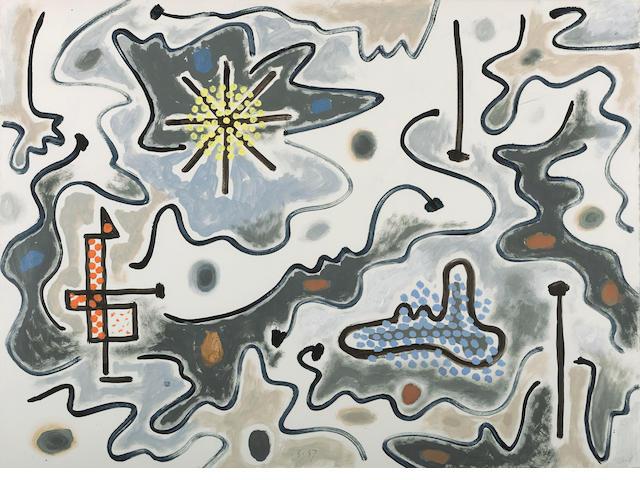 Gordon Onslow Ford (1912-2003) In Partnership, 1987  20 1/8 x 27 1/4in. (51.1 x 69.2cm)