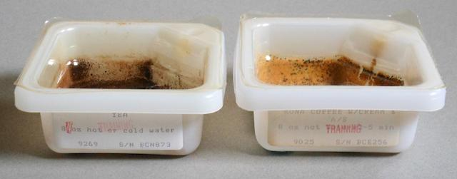 COFFEE OR TEA?  SPACE SHUTTLE DRINK CONTAINERS.