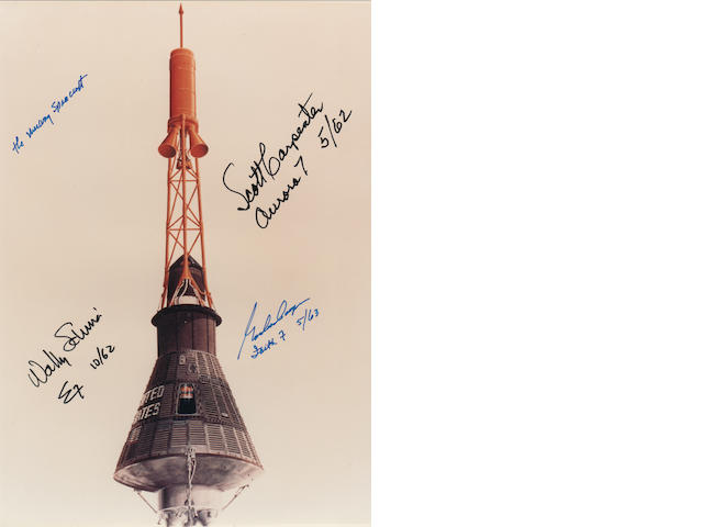 THE MERCURY SPACECRAFT—SIGNED.