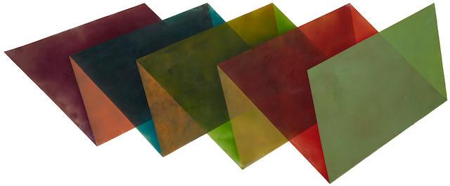 Ronald Davis (born 1937) Sawtooth, 1970  57 1/4 x 140in. (145.4 x 355.6cm) unframed