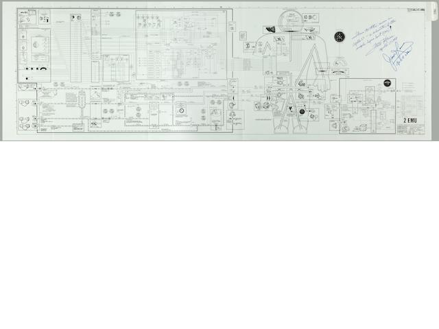 SPACE SUIT SCHEMATIC CARRIED ON APOLLO 13.