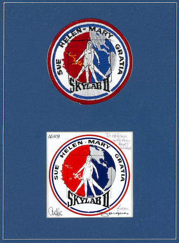 "SKYLAB II ""WIVES PATCH"" - ONE OF ONLY 320 MADE. ONE OF THE MOST SOUGHT AFTER EARLY EMBROIDERED EMBLEMS."