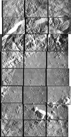 LUNAR ORBITER V PANORAMA. THE MOST COMPREHENSIVE VIEW OF CRATER COPERNICUS.