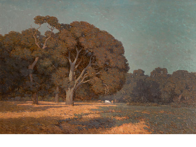 Granville Redmond (American, 1871-1935) In the afternoon, Menlo Park, California, 1911 26 x 38in