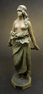 An Austrian Goldscheider terracotta figure of Judith late 19th/early 20th century
