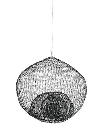 Ruth Asawa (1926-2013) Untitled, (S.606, Hanging Single-Lobed Five-Layer Continuous Form Within a Form), circa 1962 13 3/4 x 14 3/4 x 14 3/4in. (34.9 x 37.5 X 37.5cm)