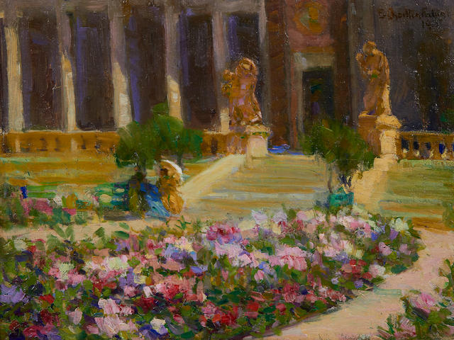 E. Charlton Fortune (1885-1969) Hall of Flowers, Panama-Pacific International Exposition, 1915 12 x 16in