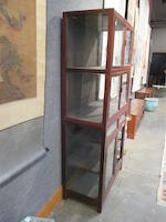 A hardwood display cabinet 20th century