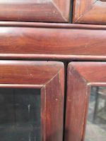 A hardwood display cabinet 20th century