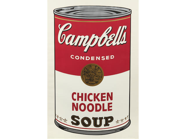 Andy Warhol (1928-1987); Chicken Noodle, from Campbell's Soup I;