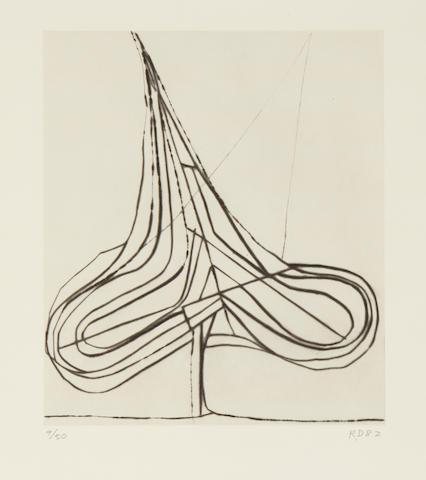 Richard Diebenkorn (1922-1993); Spade Drypoint, from Five Spades;