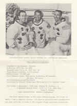APOLLO 7 CREW SIGNED POSTAL ENVELOPE.  RELEASED BY NASM FOR THE 5TH ANNIVERSARY OF THE APOLLO 7 MISSION.