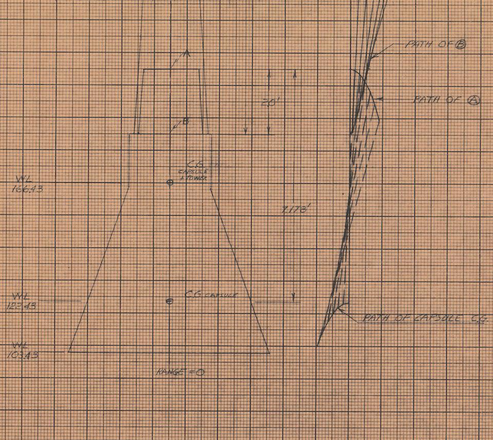 Bonhams : COOPER'S MERCURY CAPSULE AND TOWER DIAGRAM—SIGNED