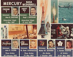 THE SIX MERCURY MISSION EMBLEMS.