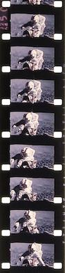 "APOLLO 16'S MOTION PICTURES OF ORION'S UNDOCKING AND LUNAR LANDING.  JOHN YOUNG ON THE LUNAR SURFACE PLUS THE RETURN OF ""CASPER"" TO EARTH."