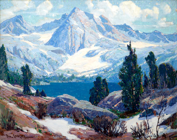 Paul Lauritz (Norwegian/American, 1889-1975) Upper Rae Lake, High Sierras 39 3/4 x 49 3/4in