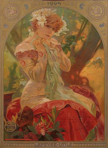 Alphonse Mucha (1860-1939); Lefèvre-Utile, Sarah Bernhardt;