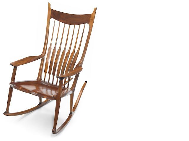 Sam Maloof (American, 1916-2009) Rocking Chair, 1995