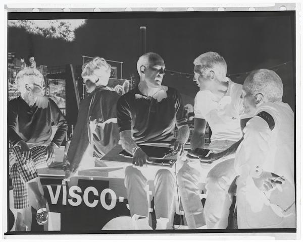 A Steve McQueen negative featuring racing legend Sir Stirling Moss