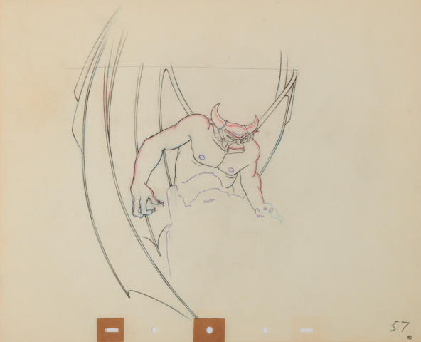 Two Walt Disney Studios animation drawings from Fantasia
